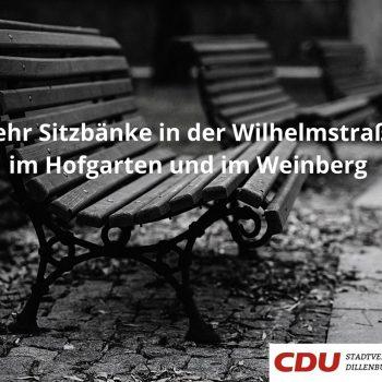 Sitzbänke in Dillenburg